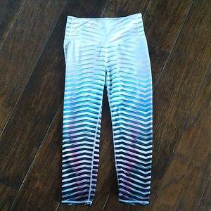 Athleta ombre pink/teal crop pants